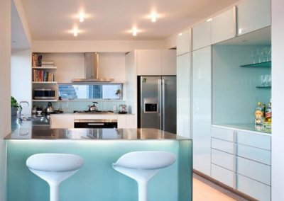 small home kitchen and seating
