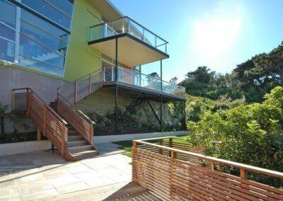 ngaio home side entrance and garden