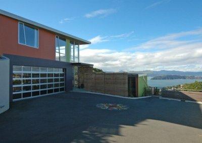 ngaio home driveway and view
