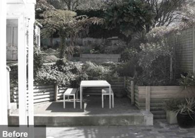 Tinakori Home patio and garden before