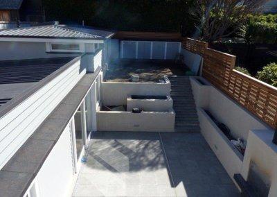 Tinakori Home work in progress of patio and back garden